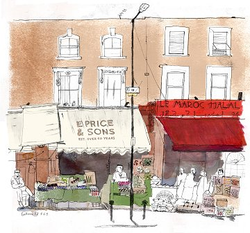 Golborne Road drawing